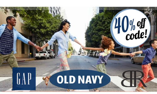 40% Off at Gap & Old Navy