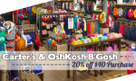 Carter's & OshKosh B'Gosh Coupons   20% off $40 Purchase