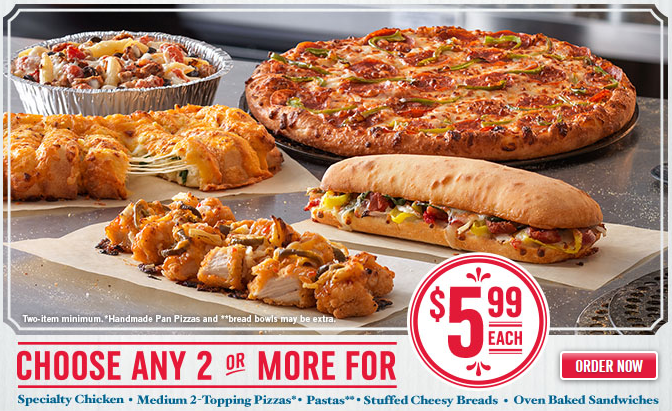 Also, if you're looking for another dining deal, Dominos Pizza is ...