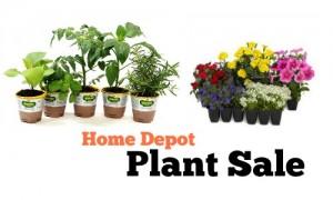 home depot plant sale