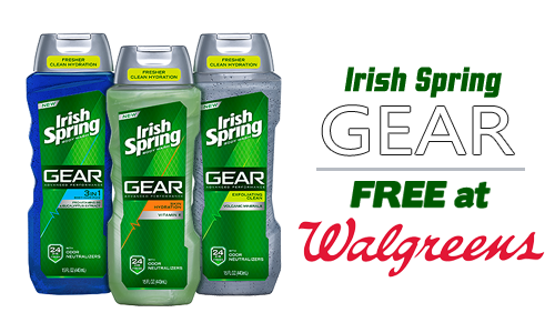 irish spring coupon gear body wash free walgreens