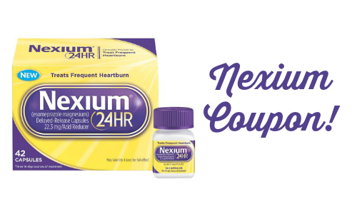 graphic about Nexium Printable Coupon referred to as Refreshing Nexium Coupon, $17.99 at Walgreens :: Southern Savers
