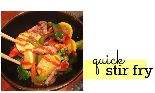 Do you have a handful of veggies and a protein? You can make this quick stir fry for dinner tonight!