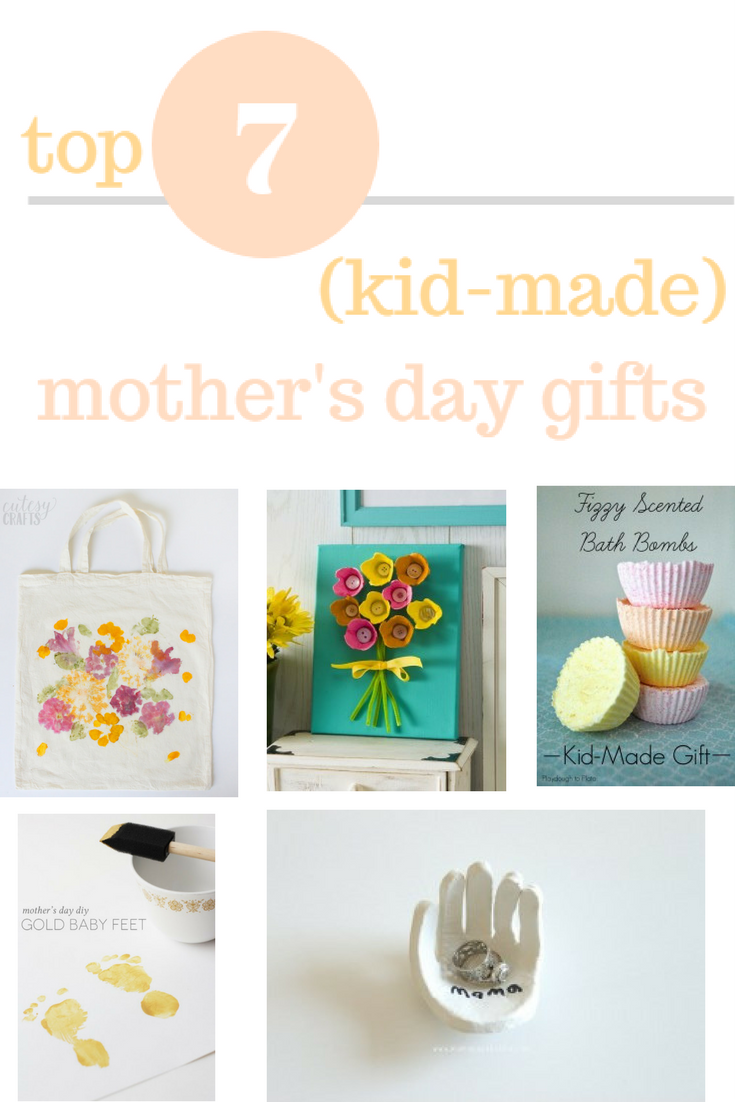 Mother's Day is right around the corner and the best gift you could give me is handmade. Check out these DIY ideas for kid-made Mother's Day gifts.