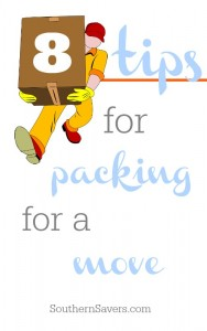 8 packing tips for a move.  To make packing day a little less rocky.