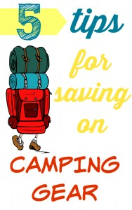 Spend a night outside frugaly with my 5 tips for saving on camping gear!