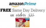 Amazon Prime: Free Same Day Delivery Select Areas
