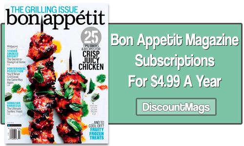 bon appetit subscriptions for 499 dM
