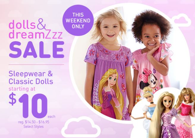 ea7f31ea11 This weekend the Disney Store is offering a Dolls   DreamZzz sale with  sleepwear and classic dolls starting at  10! There is no coupon code needed.