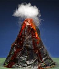 dry ice volcano