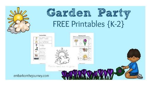 free garden party printable