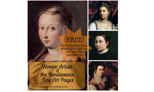 free homeschool packet women artists