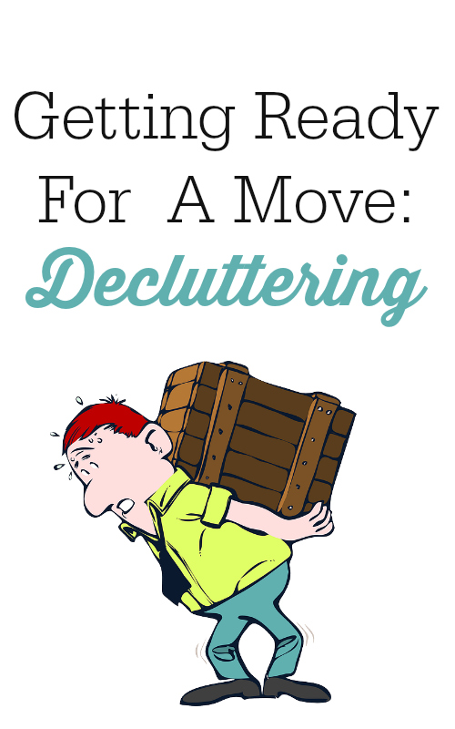 getting ready for a move decluttering
