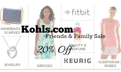 kohls.com friends and family sale