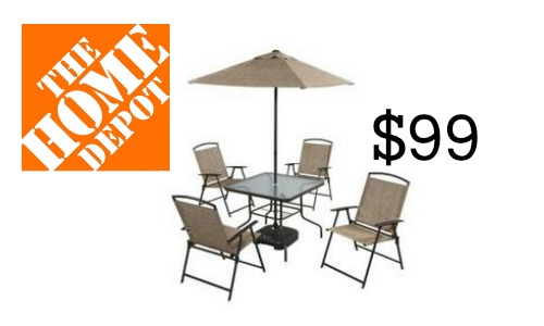 home depot patio table Home Depot: 7 Piece Patio Set, $99 :: Southern Savers home depot patio table