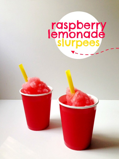 raspberry lemonade slurpees