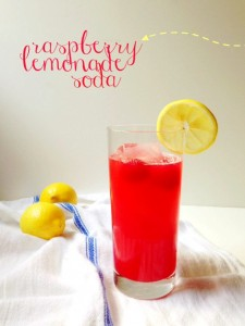 Get your kids in the kitchen and let them help you make this refreshing raspberry lemonade soda!
