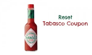 reset tabasco coupon