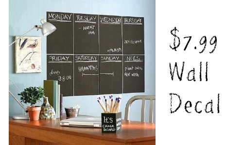 chalkboard wall decal