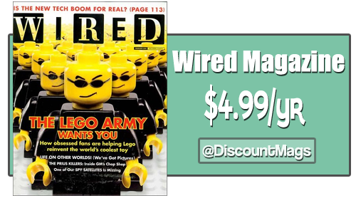 wired magazine subscription 499 a year