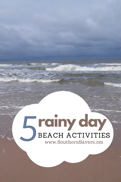Here are some rainy day beach activities to keep the kids entertained if the weather during your vacation isn't cooperating!