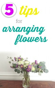 Here are 5 simple tips for arranging flowers.