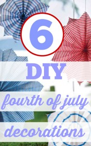 Here are 6 cute, cheap and easy ways to decorate your home with DIY Fourth of July decorations.