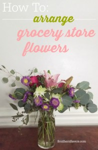 Liven up the tired grocery store bouquet and spend a little time working on the arrangement.  How to arrange grocery store flowers.