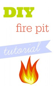 Make a DIY fire pit with just a few simple steps.  It's so easy you can finish it in a weekend!