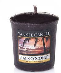 black coconut candle