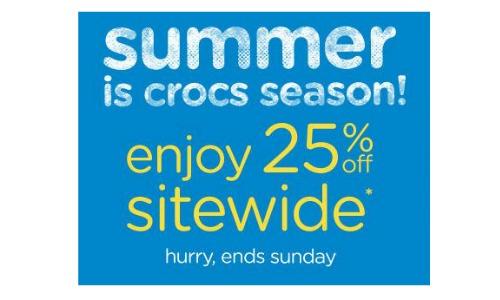 crocs sitewide sale