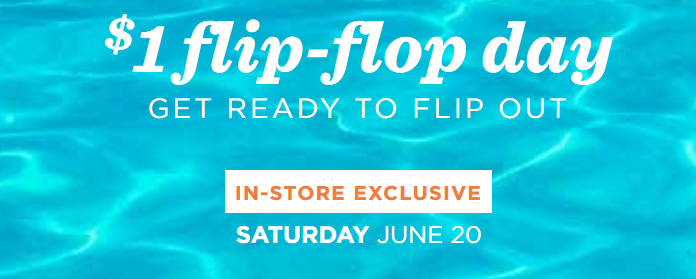 d07f00ec9e7 Mark you calendars to head to Old Navy s Flip-Flop Day on Saturday 6 20 to  get  1 Flip Flops. This deal is open to everyone