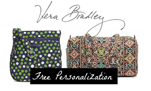 free personalization vera bradley