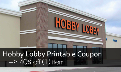 hobby lobby printable coupon