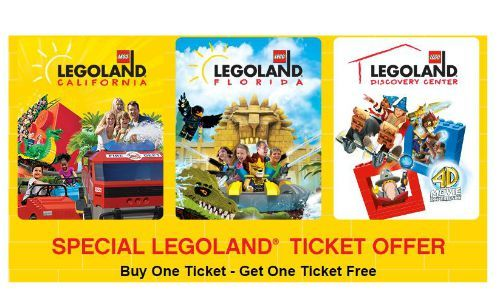Check out this great offer where you can get BOGO Legoland tickets ...