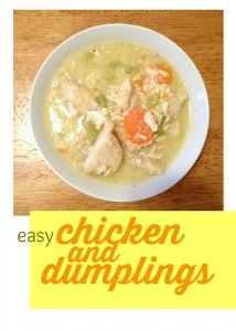 This chicken and dumplings recipe is great for when I'm feeling nostalgic. It's easy, doesn't require a ton of ingredients, and it uses canned biscuits.