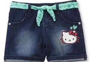 cuffed jean shorts'