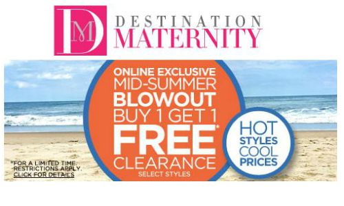 destination maternity bogo clearance