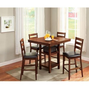 Superb Walmart also has a piece Better Homes and Gardens Counter Height Dining Set for If you ure moving into a new house or need a dining set