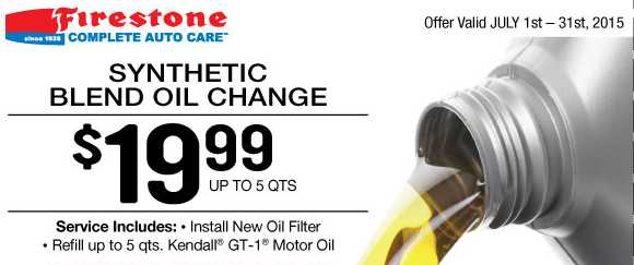 Firestone Coupon 19 99 Oil Change Filter Southern