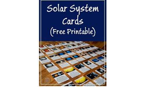 free printable solar system cards