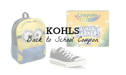 kohls back to school coupon