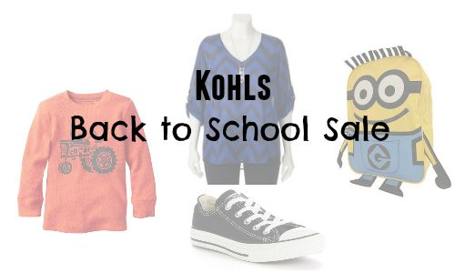 kohls back to school sale