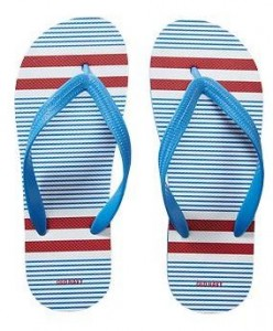 mens patterned flip flops