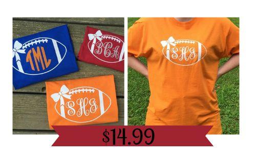 monogrammed football tshirts