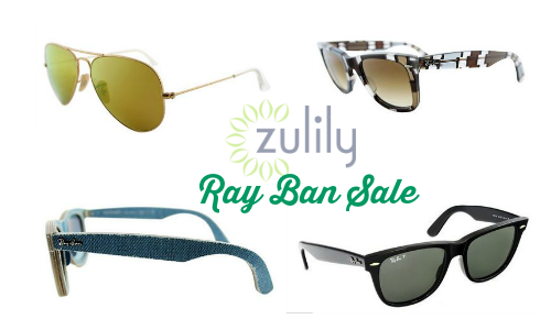 Need a new pair of sunglasses? Shop the Ray Ban Sale at Zulily and get