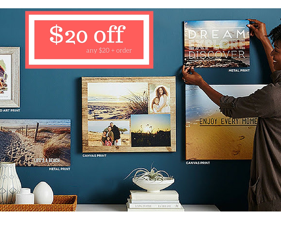 Shutterfly coupon code 20 off
