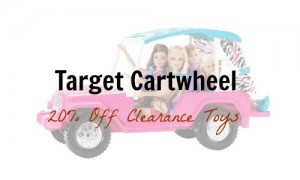 target toy clearance cartwheel
