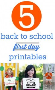 5 back to school first day printables.