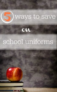5 ways to save on school uniforms.